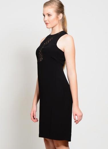 Foxiedox Kolsuz Kısa Elbise Siyah